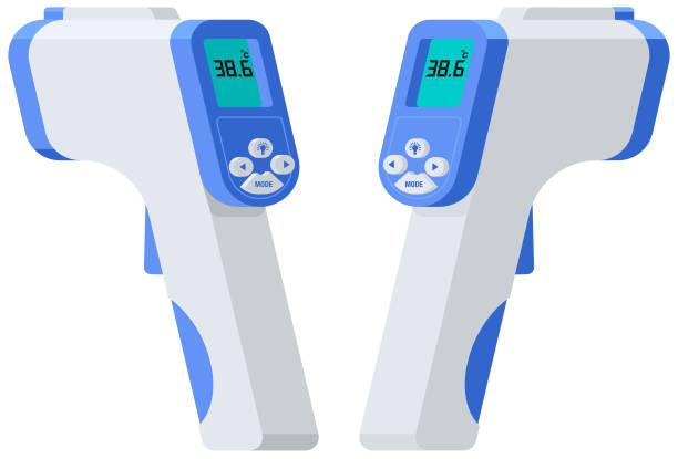Coronavirus Vector illustration of Infrared Thermometer infrared stock illustrations