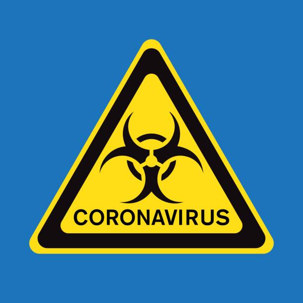 Coronavirus warning sign, vector illustration vector art illustration