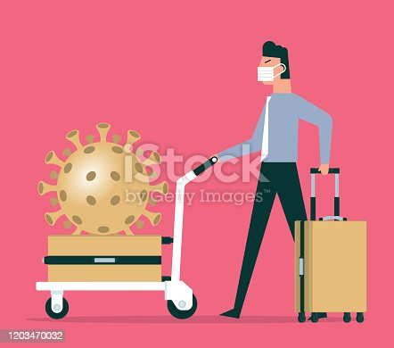 istock Coronavirus with tourists 1203470032