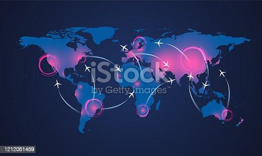 istock Coronavirus world map 1212051459