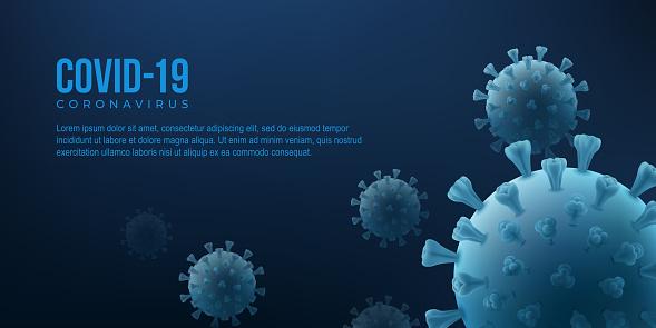 Coronavirus19 vector poster with virus