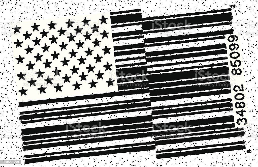 Corporate America, Grunge royalty-free stock vector art