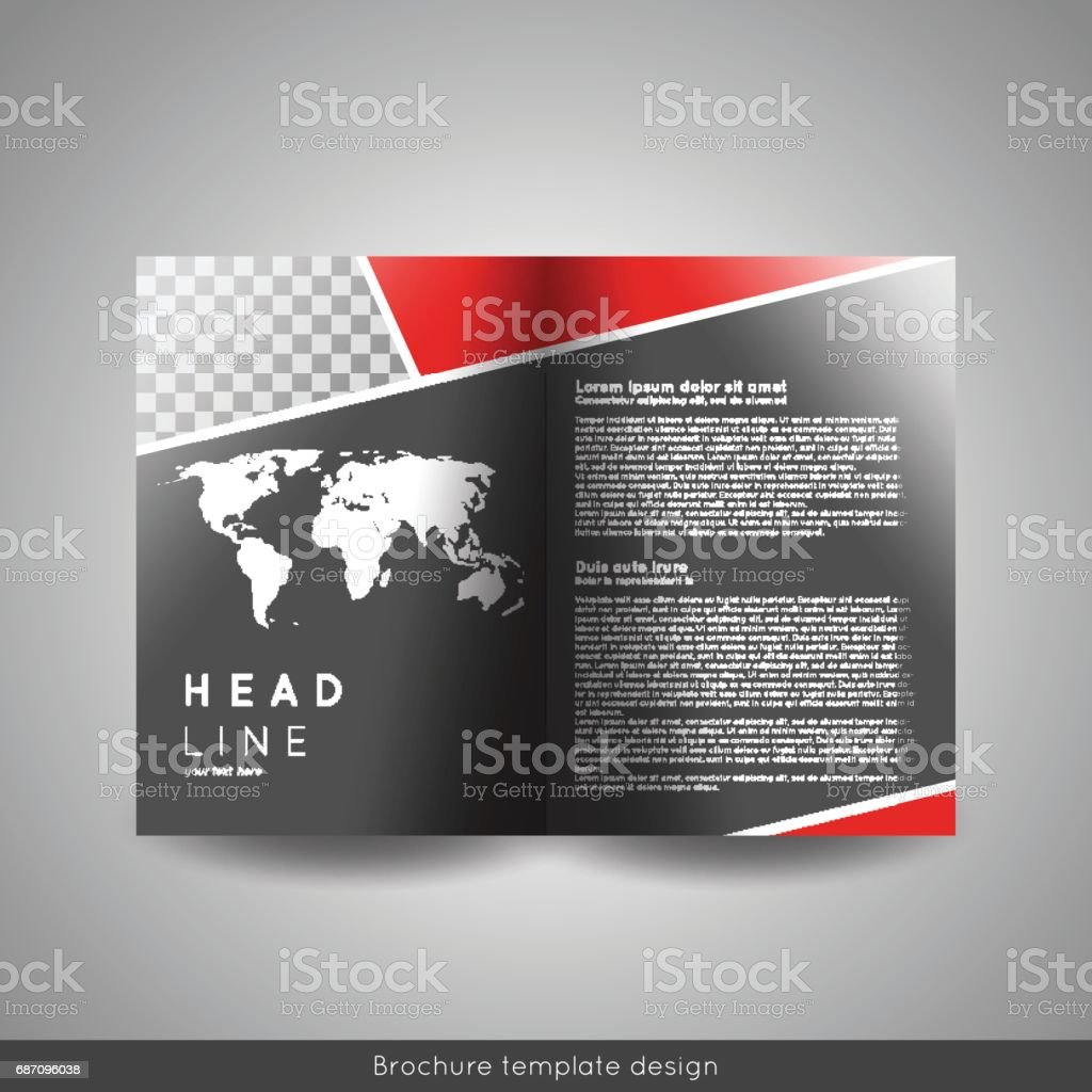 corporate bifold brochure template design annual report presentation
