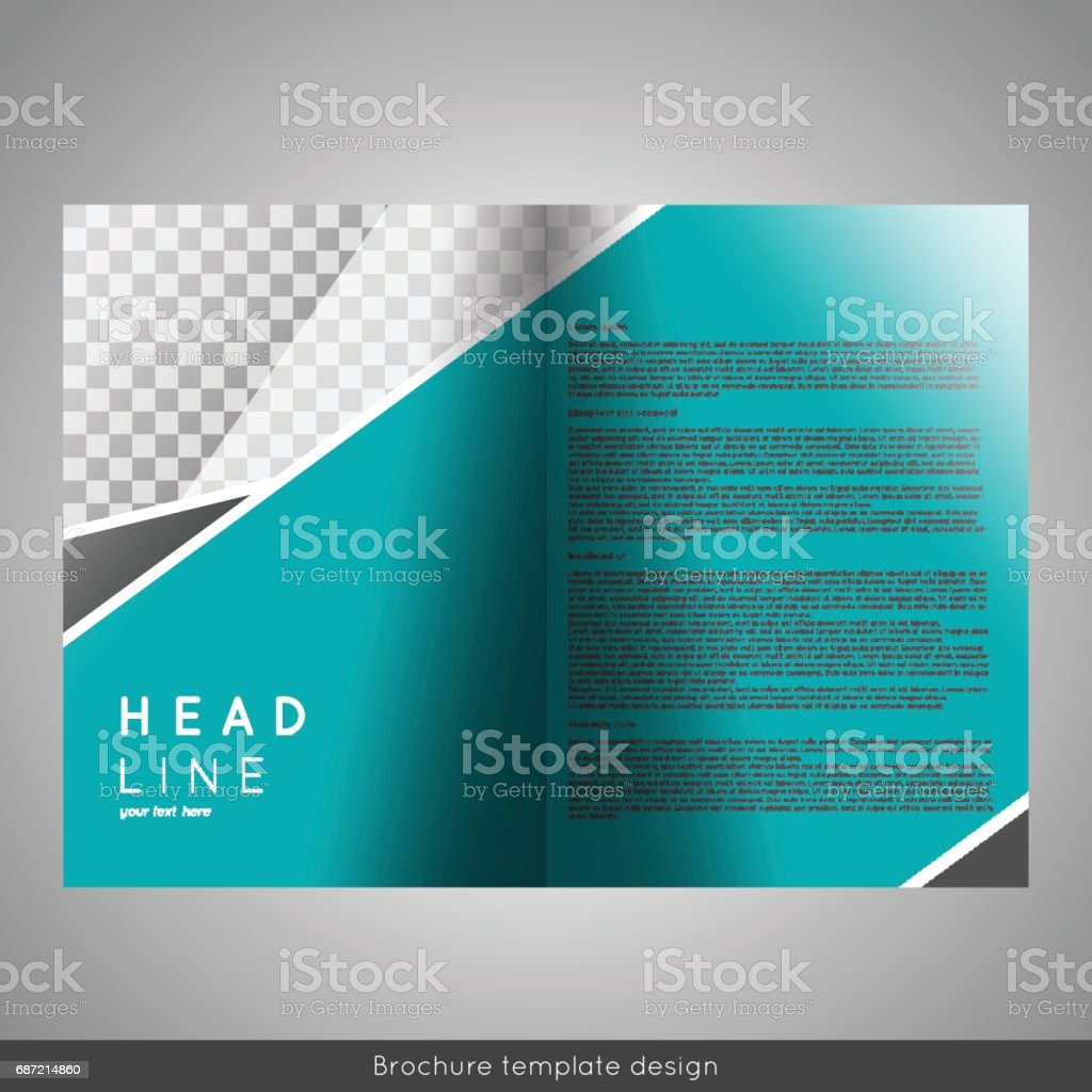 Corporate Bifold Brochure Template Design Annual Report - Foldable brochure template