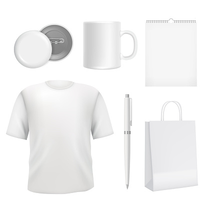 Corporate blank souvenirs. Business identity elements template
