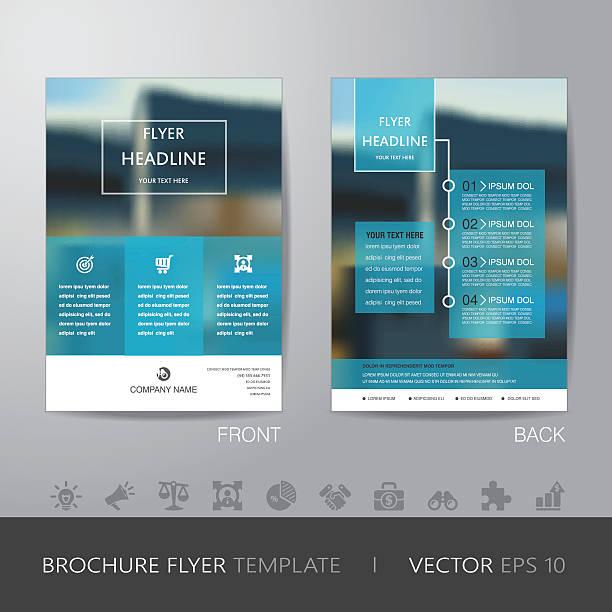 corporate verwischen hintergrund broschüre vorlage flyer design-layout - faltblatt stock-grafiken, -clipart, -cartoons und -symbole