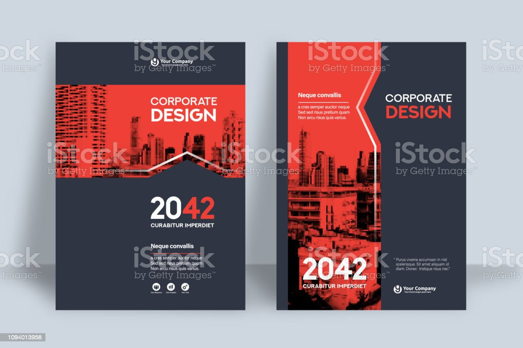 Corporate Book Cover Design Template in A4 royalty-free corporate book cover design template in a4 stock illustration - download image now