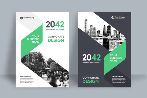 Corporate Book Cover Design Template in A4 Corporate Book Cover Design Template in A4. Can be adapt to Brochure, Annual Report, Magazine,Poster, Business Presentation, Portfolio, Flyer, Banner, Website. brochure templates stock illustrations