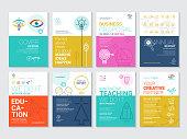 Corporate Book Cover Design Template in A4