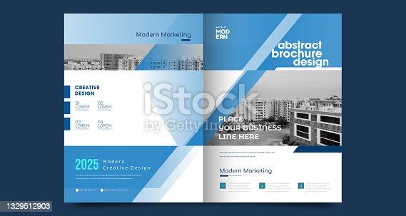 istock Corporate Book Cover Design Template in A4 1329512903