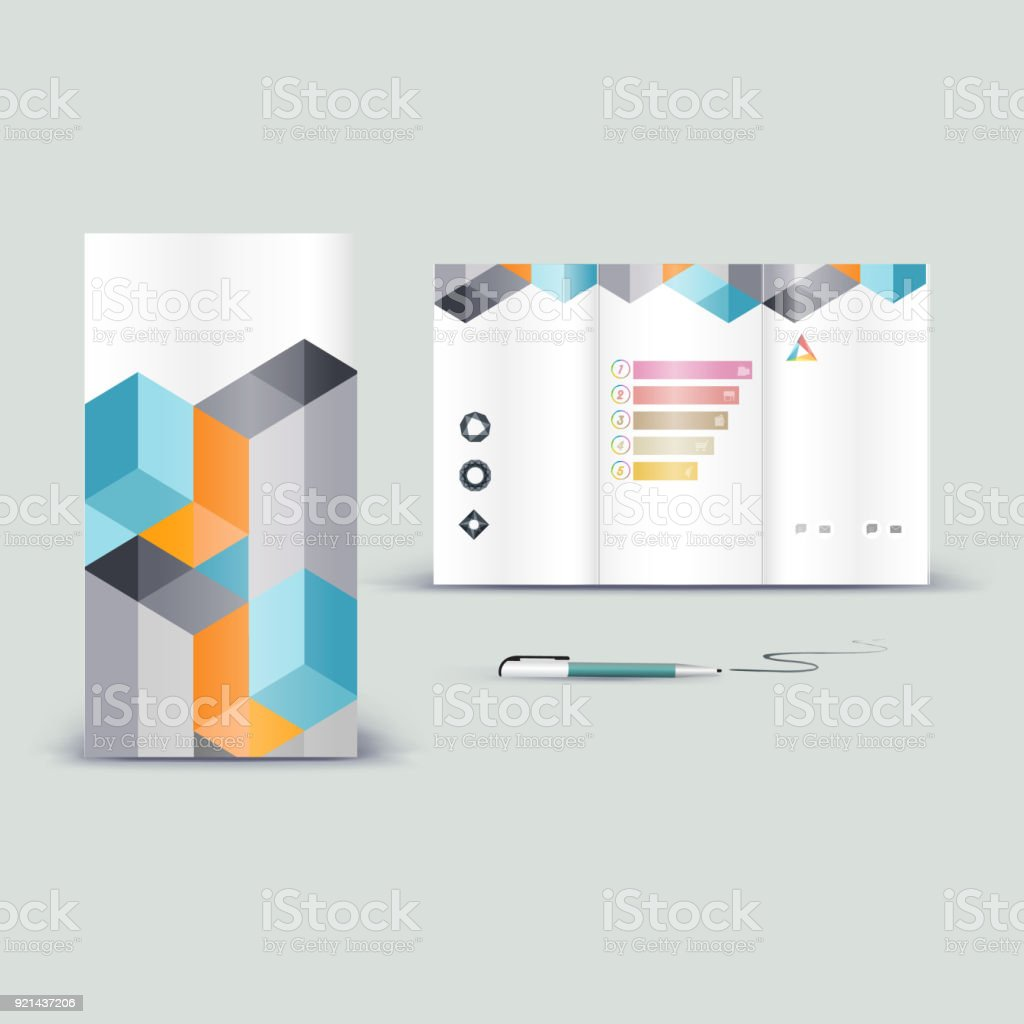 Corporate Booklet Promotion Template With Color Elements Vector Company Brichure Business Style For Advertising