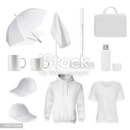 istock Corporate branding clothes accessory item mockup 1280734464