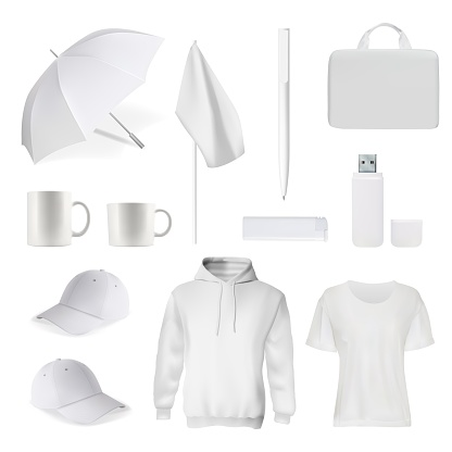 Corporate branding clothes accessory item mockup