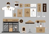 corporate branding for coffee shop and restaurant