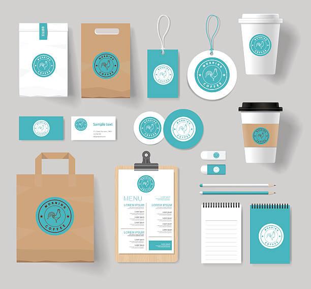 Unternehmen Branding Identität Mock up-Vorlage – Vektorgrafik