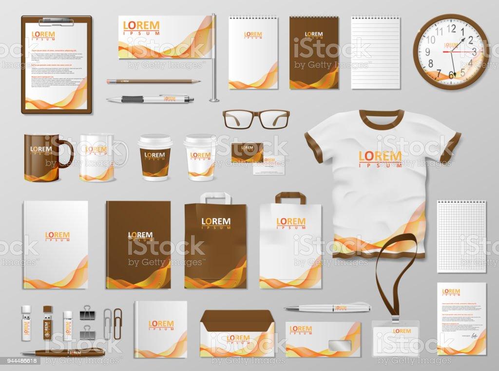 corporate branding identity template design modern stationery mockup