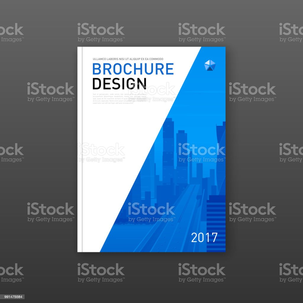 Corporate Brochure Cover Design Layout Stock Vector Art More
