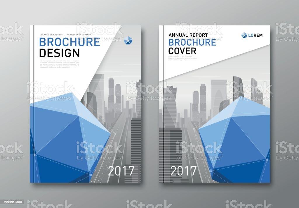 corporate brochure cover design template イラストレーションの