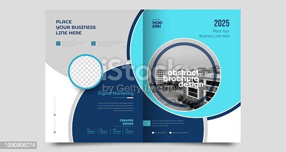 istock Corporate brochure flyer design template 1330905274