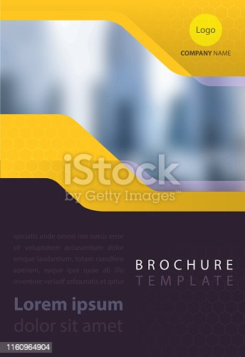 marketing brochure template design with copy space