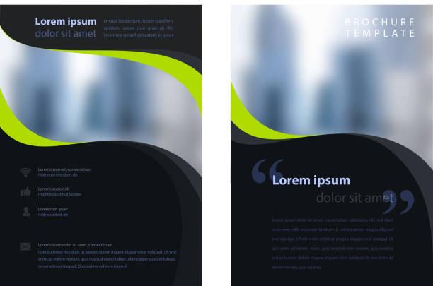stockillustraties, clipart, cartoons en iconen met corporate brochure - ontwerp
