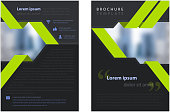 corporate brochure template with provision for image