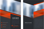 elegant brochure design template with provision for image