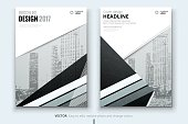 Corporate business annual report cover, brochure or flyer design. Leaflet presentation. Catalog with abstract geometric background. Modern publication poster magazine, layout, template