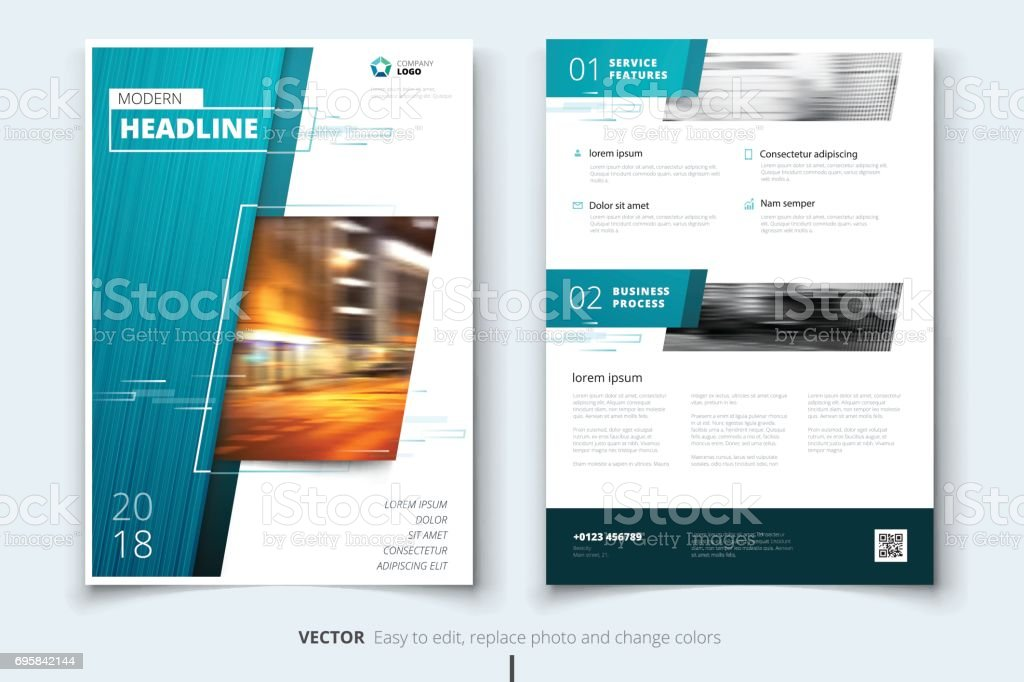 Corporate business annual report cover, brochure or flyer design. Leaflet presentation. Catalog with abstract geometric background. Modern publication poster magazine, layout, template. vector art illustration