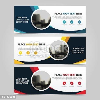 Firmenkundengeschäft Banner Vorlage Horizontale Werbung Business ...