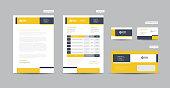 istock Corporate Business Branding Identity Design or Stationery Design Letterhead Business Card Invoice Envelope Startup Design 1314093026