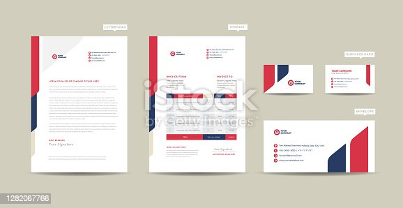 istock Corporate Business Branding Identity  | Stationary Design | Letterhead | Business Card | Invoice | Envelope | Startup Design 1282067766