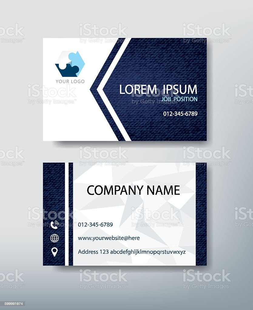 Corporate Business Card Personal Name Card Design Template Stock ...