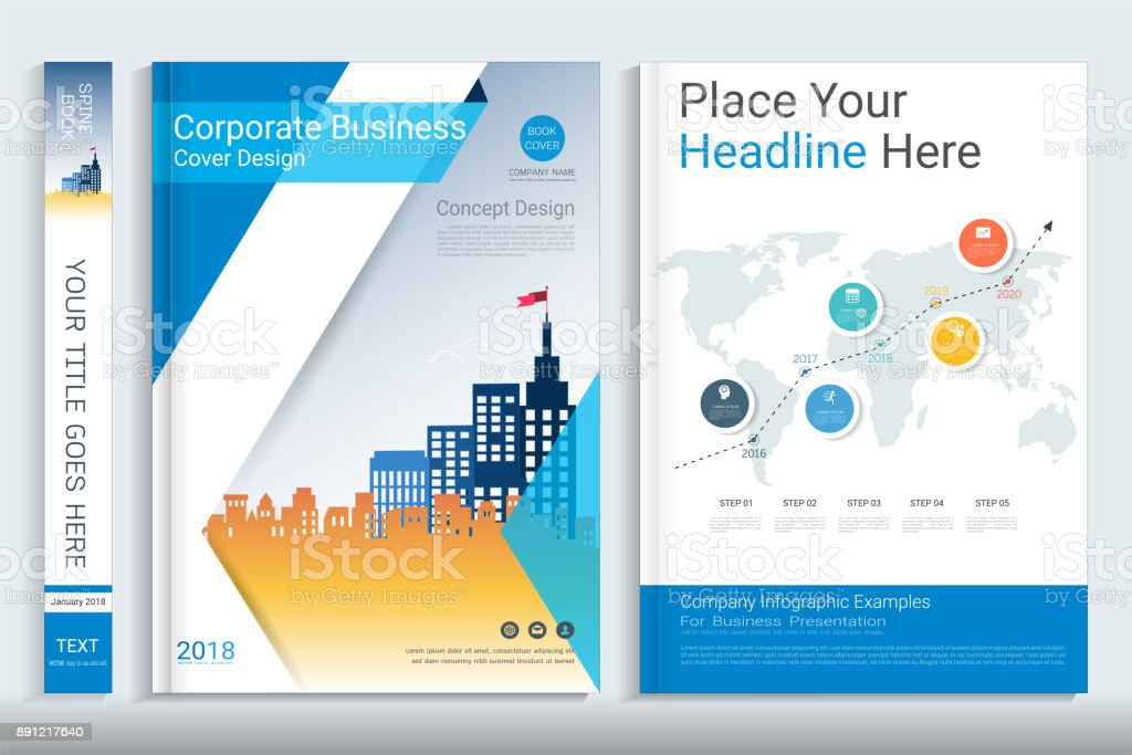 corporate business cover design with space for photo background use