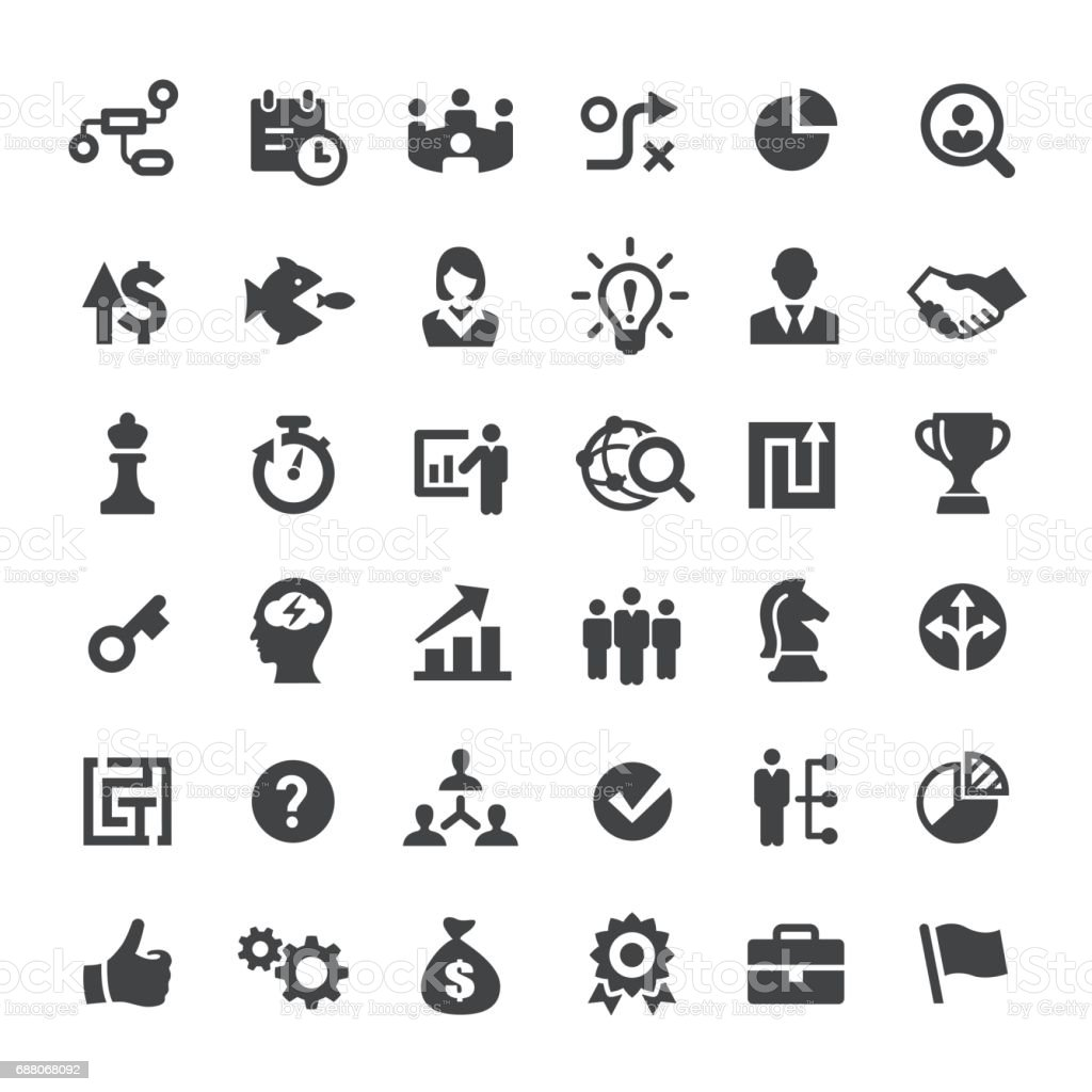 Corporate Business Icons - Big Series vector art illustration