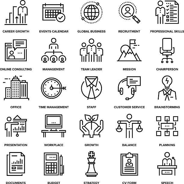 Corporate Business Symbole – Vektorgrafik