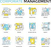 Corporate business icons,