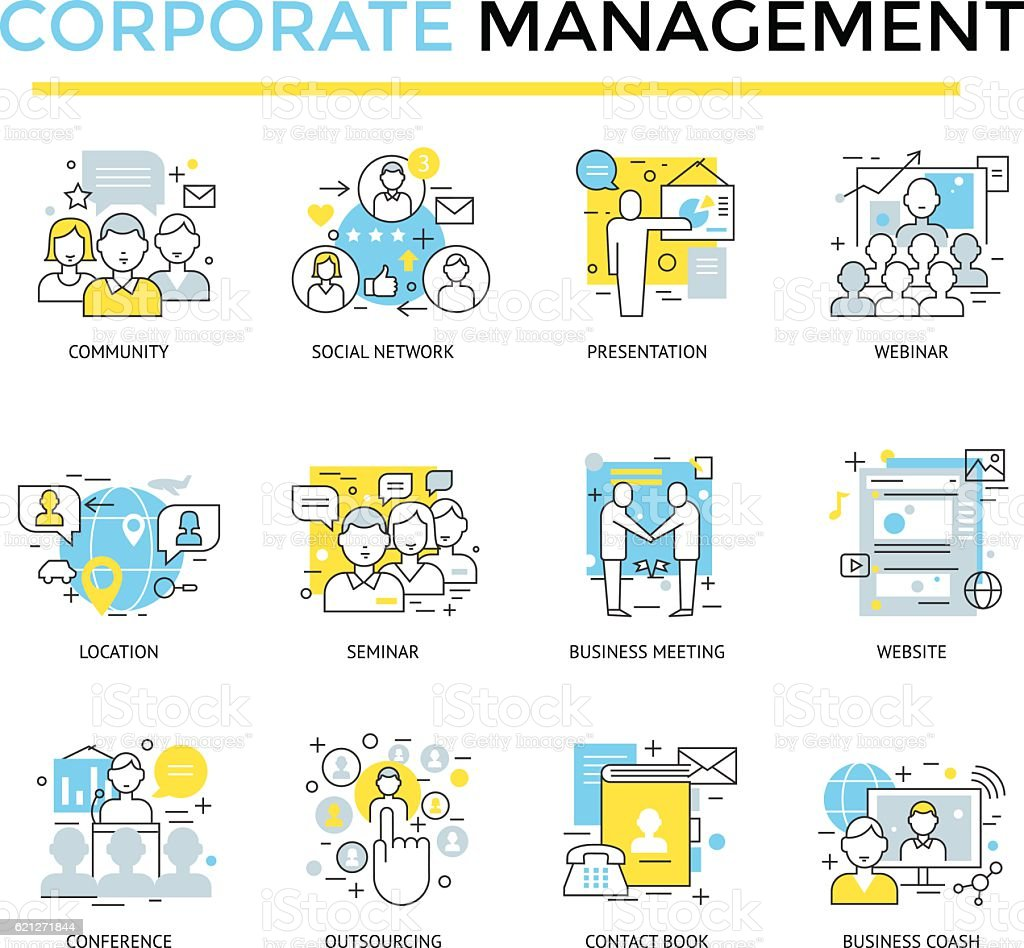 Corporate business icons, ベクターアートイラスト