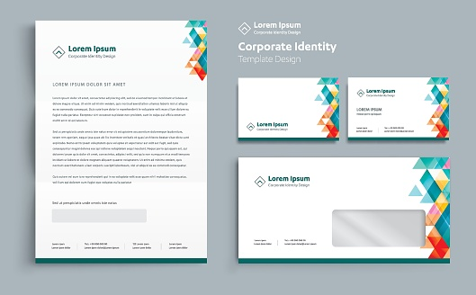 letterhead templates stock illustrations