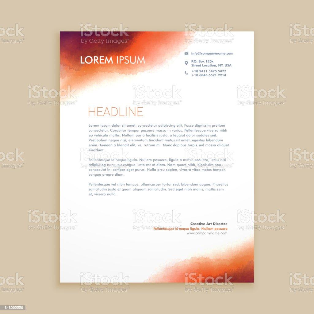 Firmenkundengeschäft Briefkopf Vorlage Vektordesignillustration