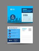 istock Corporate Business Postcard Design | Direct Mail Postcard Design | SAVE THE DATE Invitation Design 1218896047