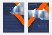 a4 brochure template design front and back