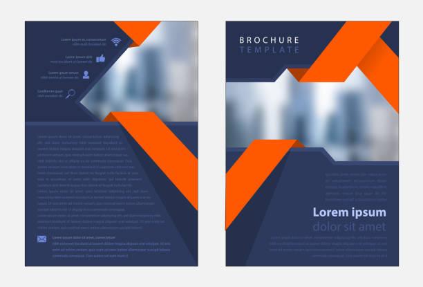 szablon działalności korporacyjnej - broszura stock illustrations