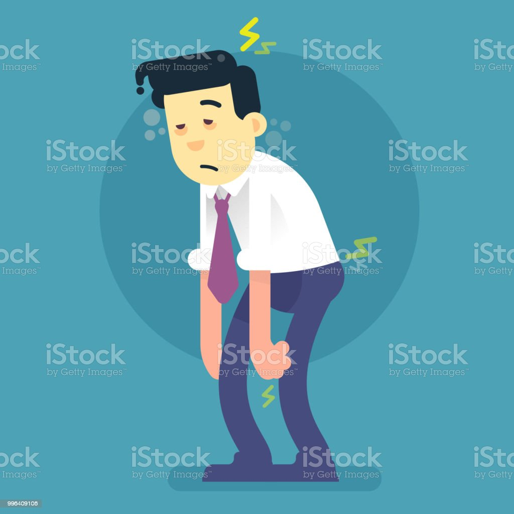 corporate character sick royalty-free corporate character sick stock illustration - download image now