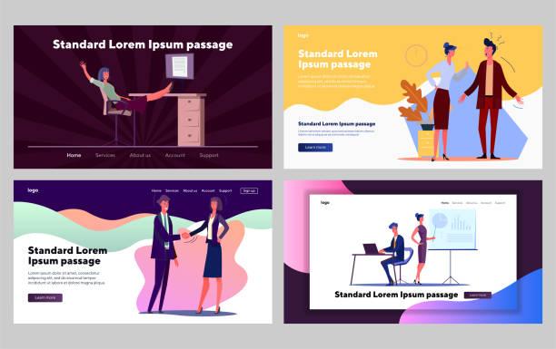 bildbanksillustrationer, clip art samt tecknat material och ikoner med företagets kommunikationsuppsättning - hemsida uppgiven