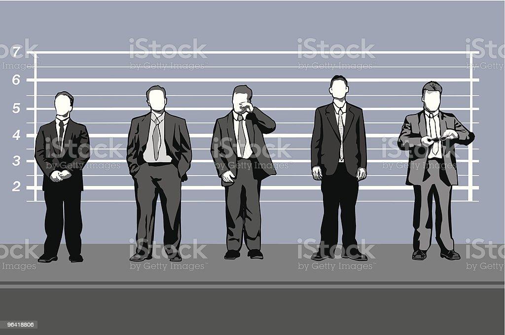 Corporate criminals (vector) royalty-free stock vector art