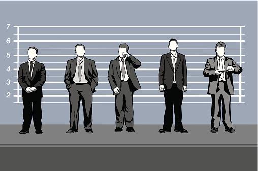 Corporate criminals (vector)