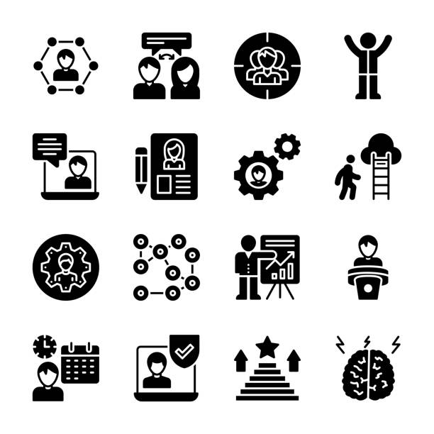 Corporate Development Icons Pack vector art illustration