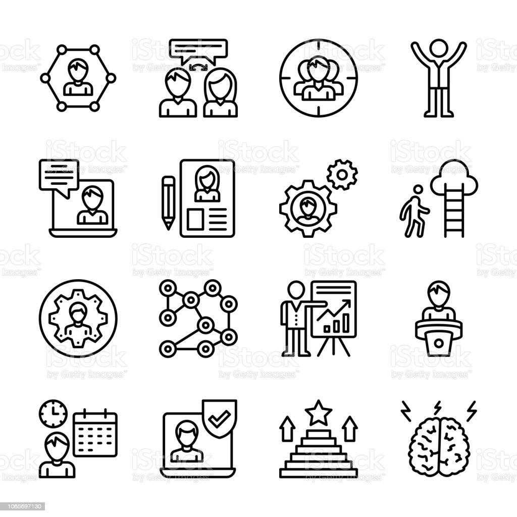 Corporate Development Icons Pack vector art illustration