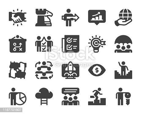 Corporate Development Icons Vector EPS File.
